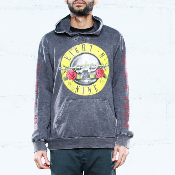 Guns N Trenches Spray Wash Hoodie Black