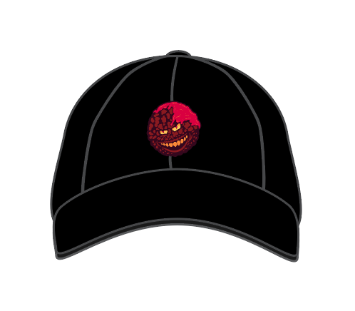 Evil Meatball Dad Hat Black