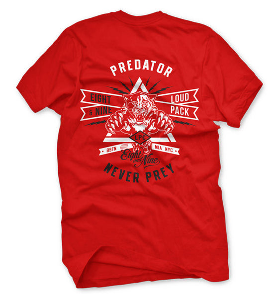 Predator Fire Red Loud Pack T Shirt - 2