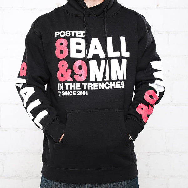 8 ball bred hooded sweatshirt  front