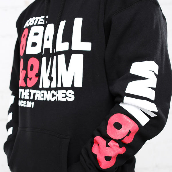 8 ball bred hooded sweatshirt sleeve