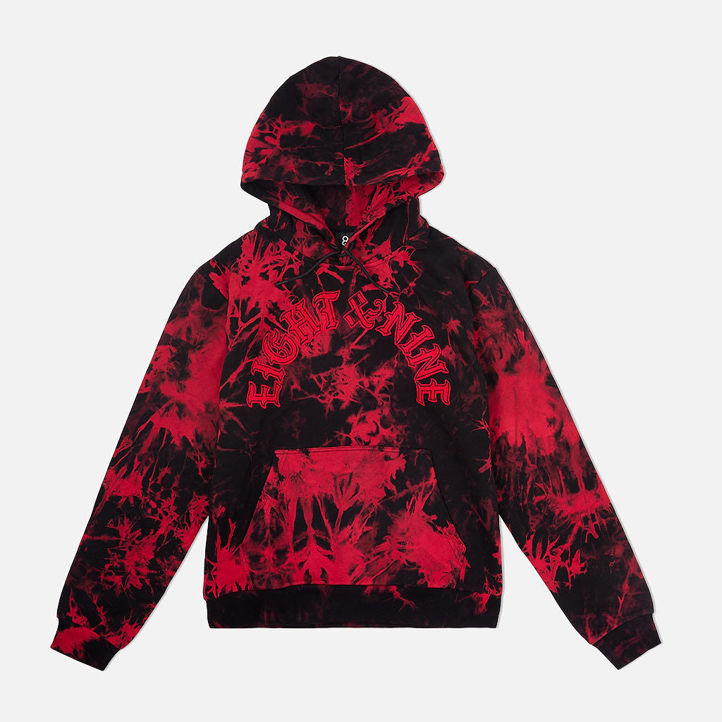 Chenille Bleached Cozy Hooded Sweatshirt Bred