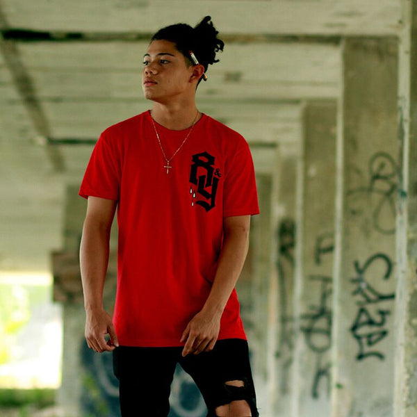 8and9 paradise classic red streetwear shirt