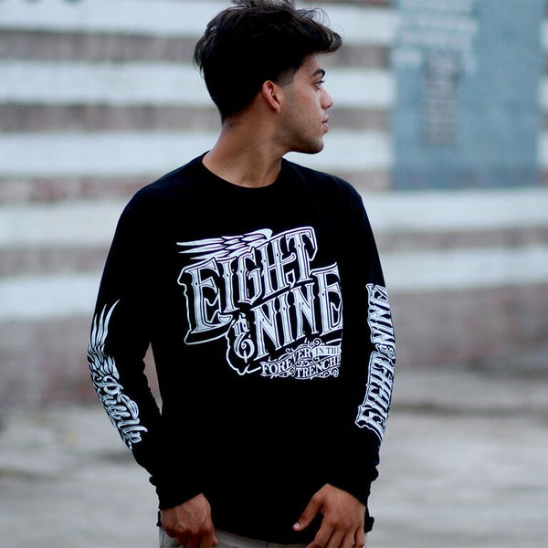 Pull Up L/S T Shirt Black