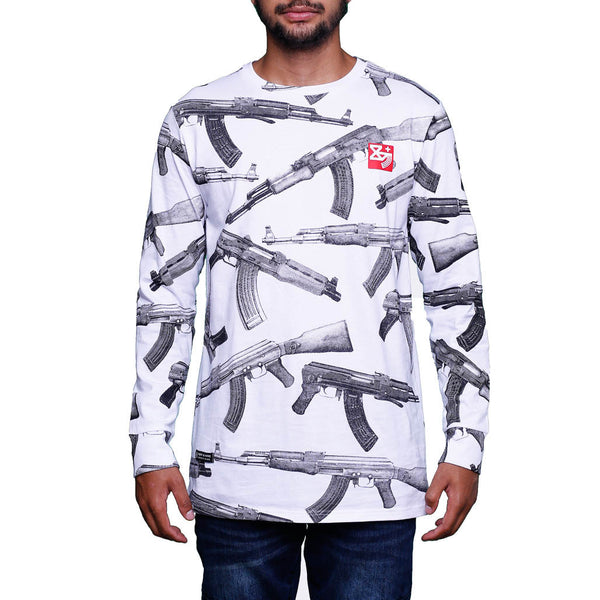 AKs Long Sleeve Tee White L/S