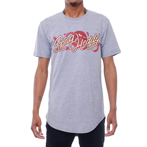 Angry Meatball Extendo T Shirt Grey