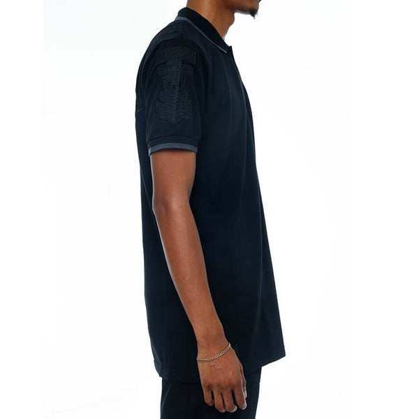 Any Means Polo Shirt Stealth Black