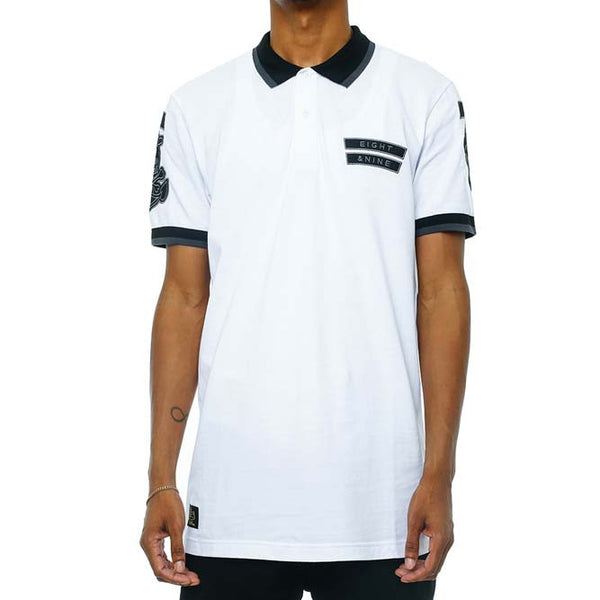 Any Means Polo Shirts White front