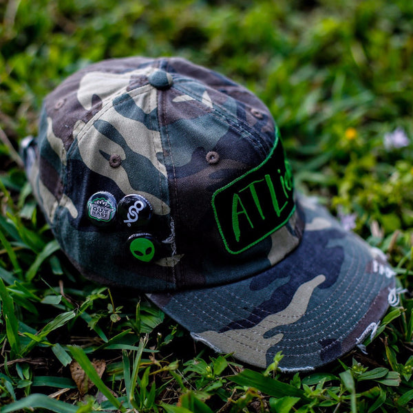 Atliens Distressed Vintage Hip Hop Hat Camo (3)