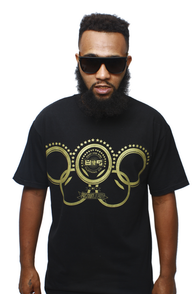 Gold Olympic Rings T Shirt - 1