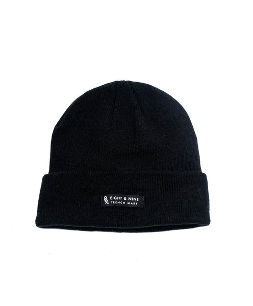 Ribbed Dock Beanie Black