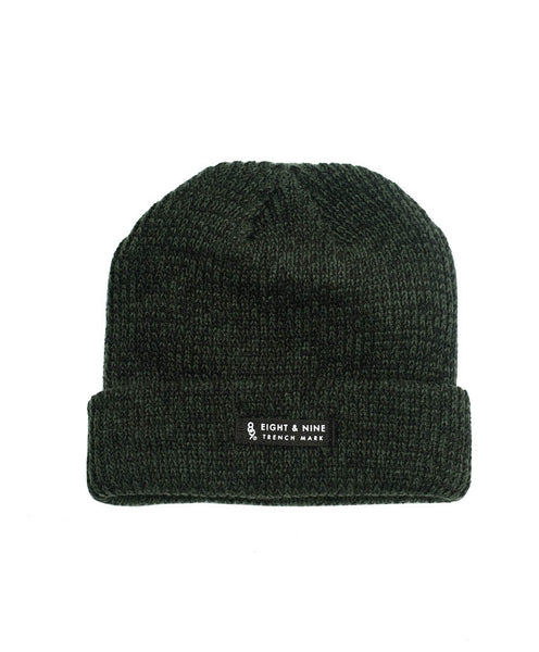 Ribbed Dock Beanie Forest Marled