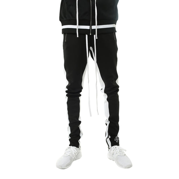 Bones Double Stripe Track Pants Black