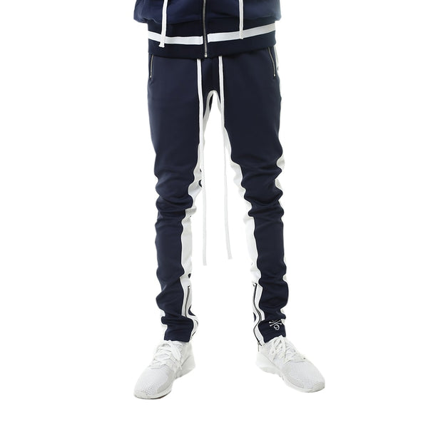 Bones Double Stripe Track Pants Navy