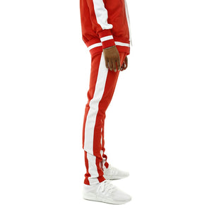Bones Double Stripe Track Pants Red