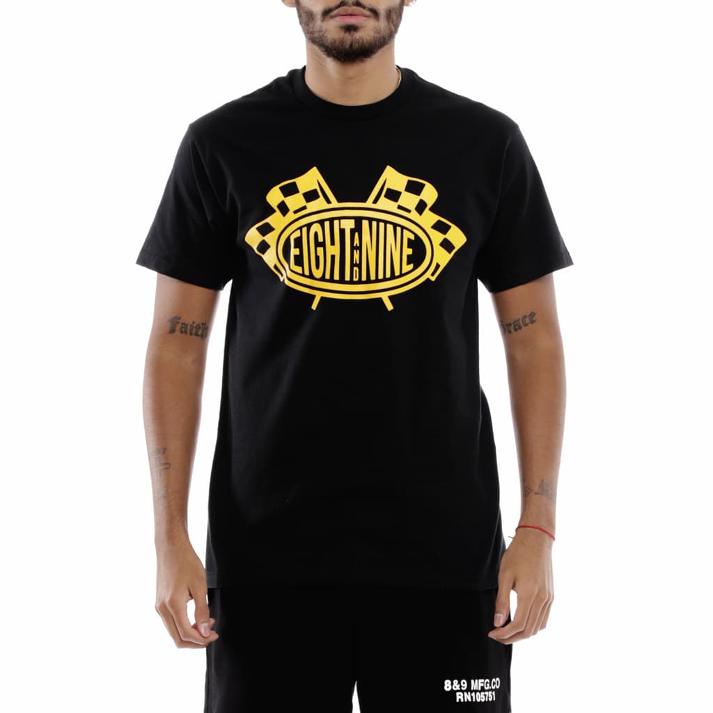 Brick Yard Black T Shirt University Gold