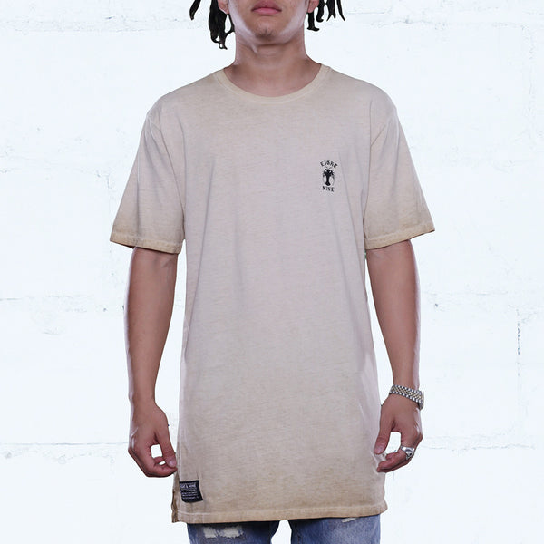 Burlap Antique Wash Elongated T Shirt