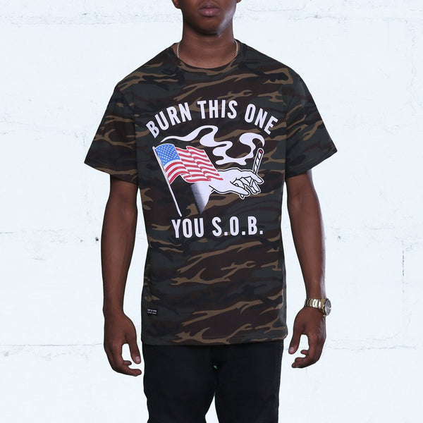 Burn One Camouflage T Shirt