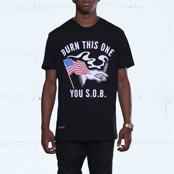 Burn One Tee Black