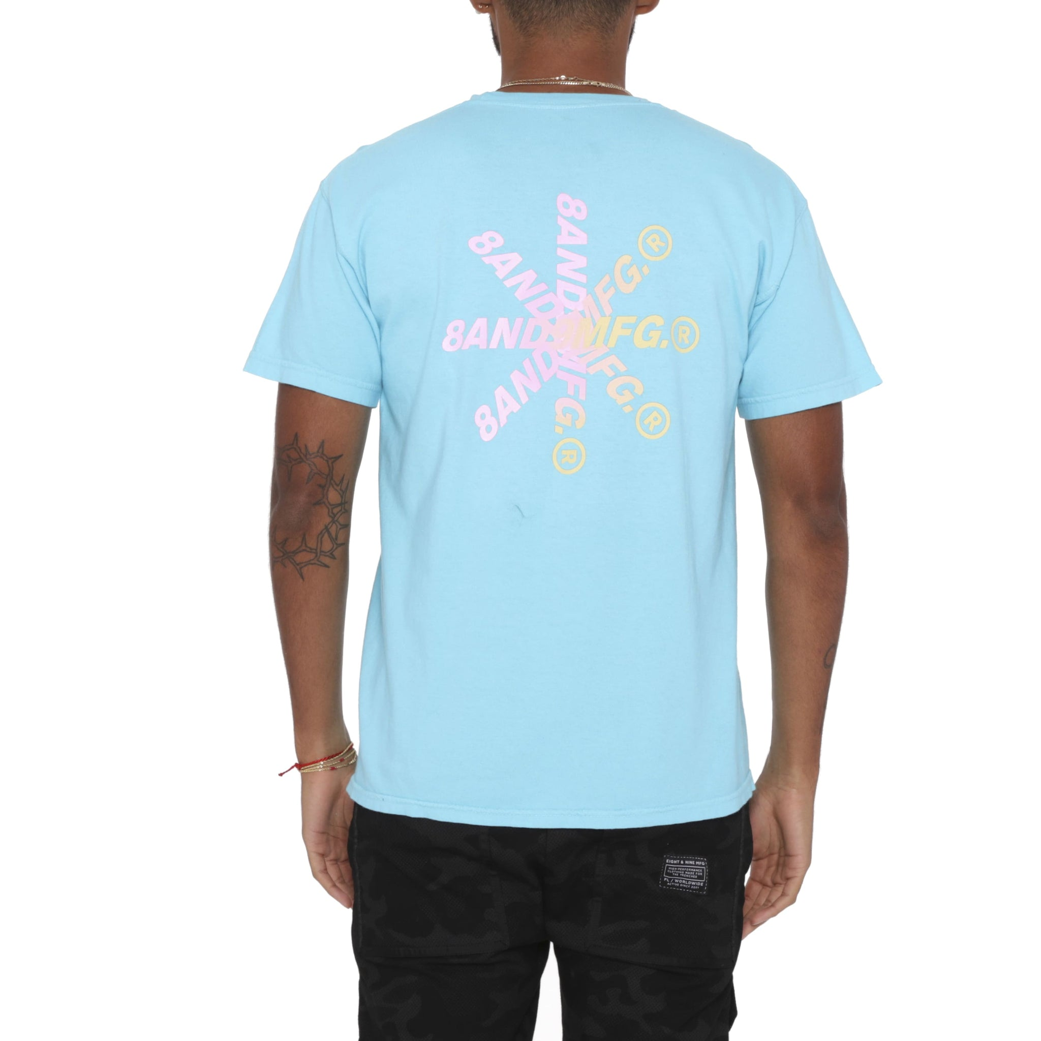 Burst T Shirt Blue
