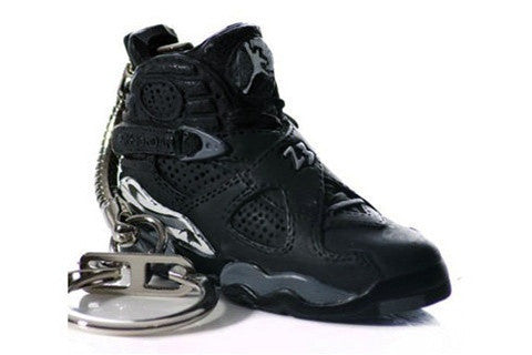 Nike Air Jordan 8 Black VIII Mini Sneaker Key Chain Sneaker Keychain