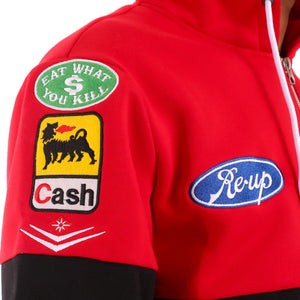 Cartel F1 Racing Pit Crew Zip Up Hoodie Red