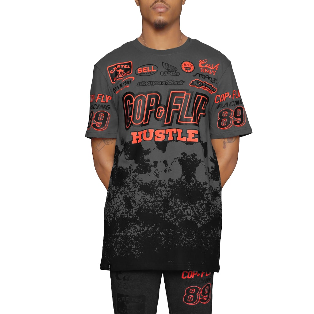 Cash Heavy SS Motorcross Tee Infrared