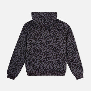Cheetah Camo Cozy Hooded Sweatshirt Black