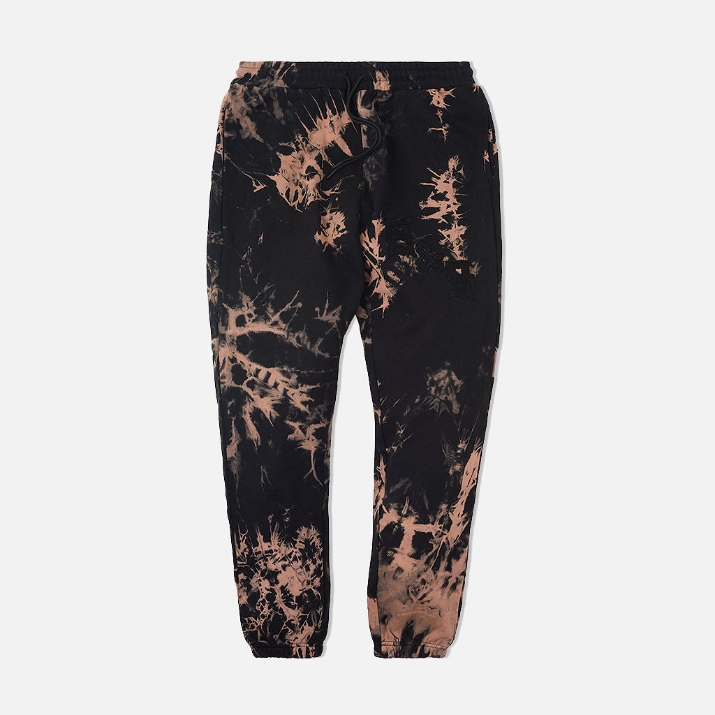 Chenille Bleached Cozy Sweatpants Black