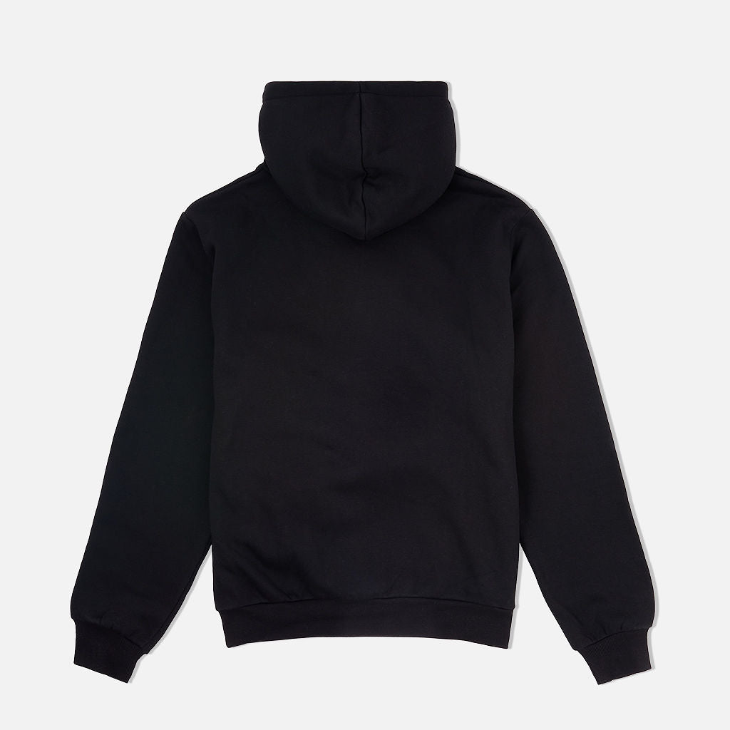 Chenille Cozy Hooded Sweatshirt Black
