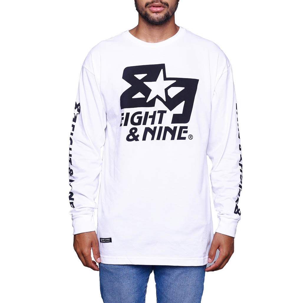 Classic Finisher White LS T Shirt front