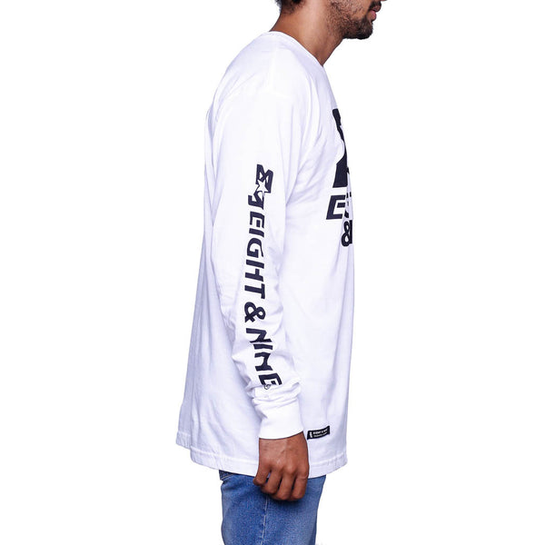 Classic Finisher White LS T Shirt side 1