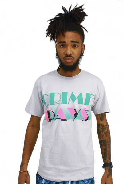 Grey Crime Pays South Beach 9 T Shirt - 1