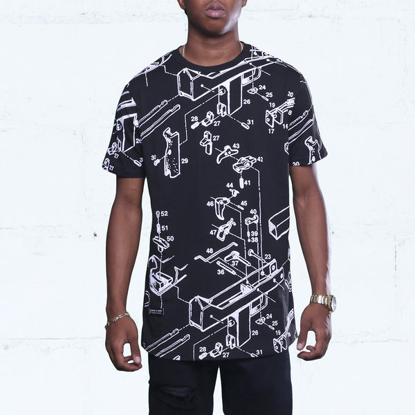 Deconstructed Mac Premium T Shirt Black