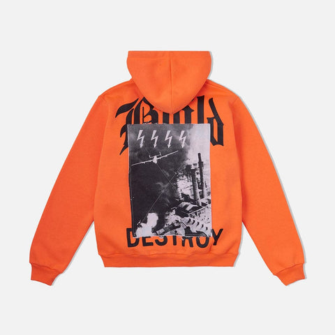 Destroy Hooded Sweatshirt Safety Orange