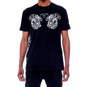 Double Up Black T Shirt