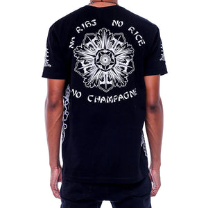 Double Up Black T Shirt back