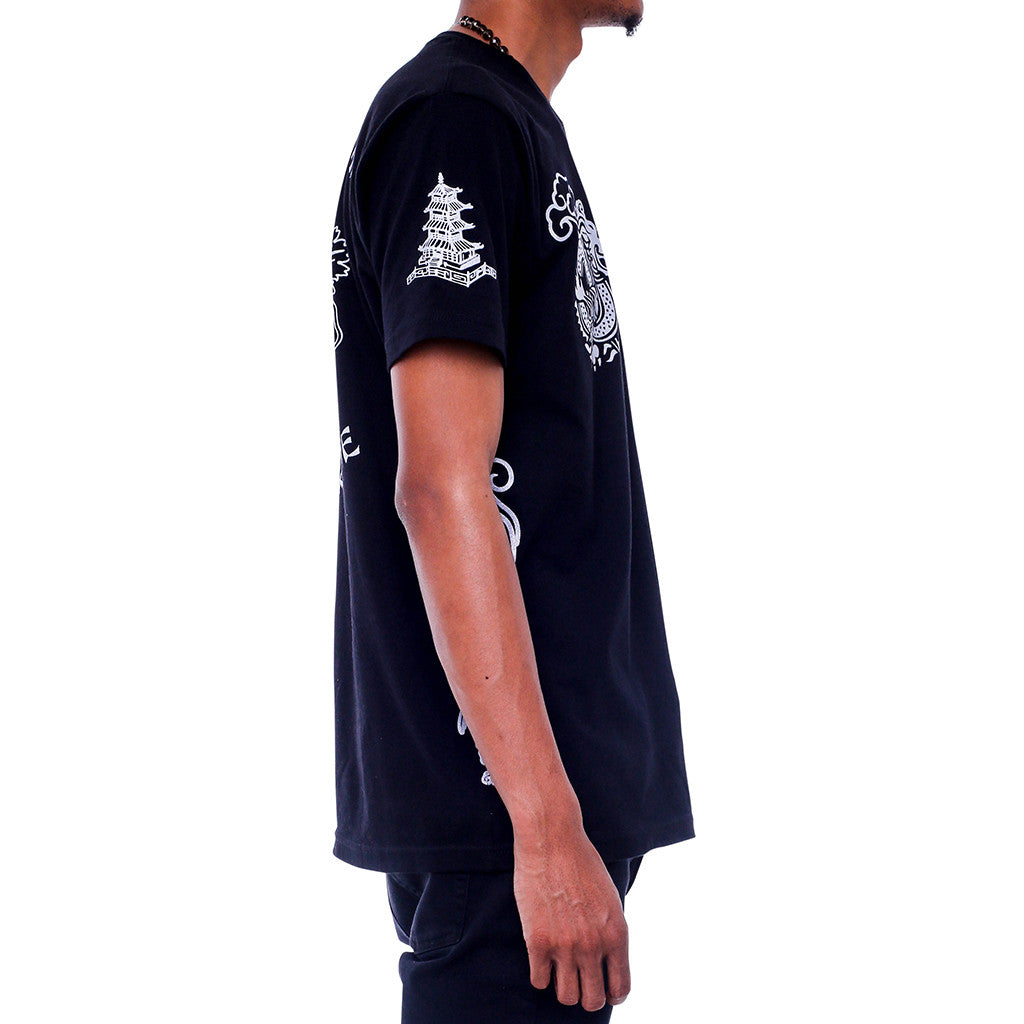 Double Up Black T Shirt side