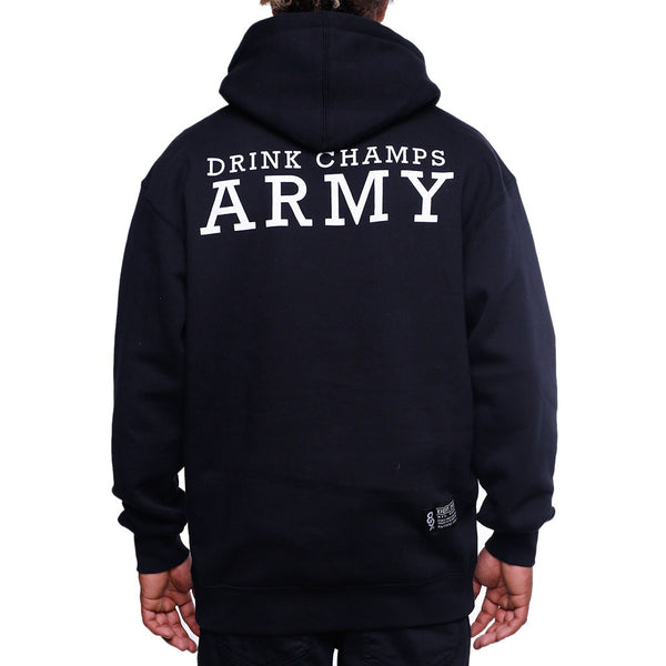 Drink Champs Army Hooded Sweatshirt back