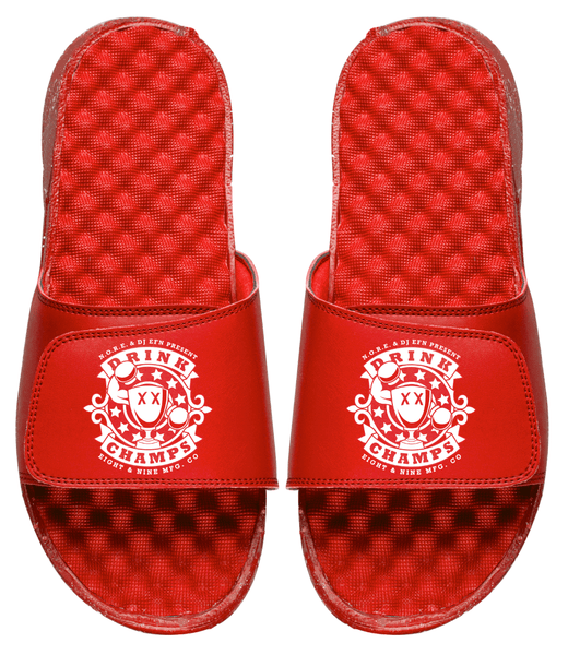 Drink Champs Army Slides Red Speckle