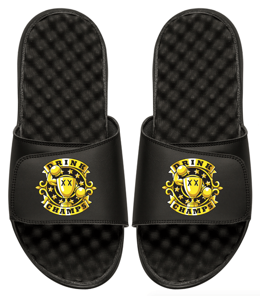 Drink Champs Slides OG Logo Black