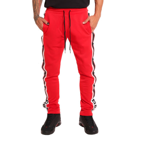 Drip Tear Away Track Pants Red