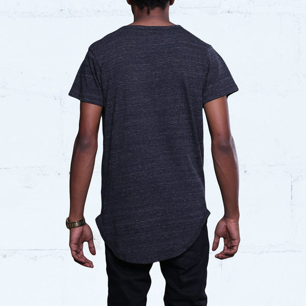 Eco Black Tri-Blend T Shirt Back