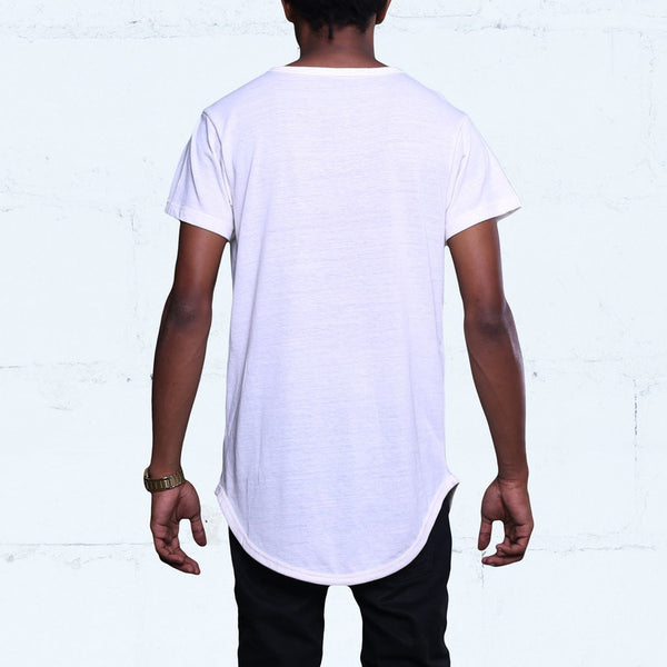 Eco White Tri-Blend T Shirt Back