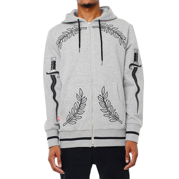 Eulogy Embroidered Hooded Sweatshirt Heather
