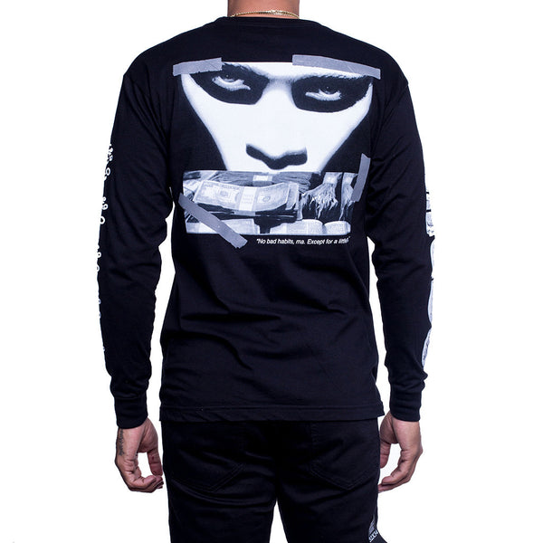 Faces Long Sleeve T Shirt back