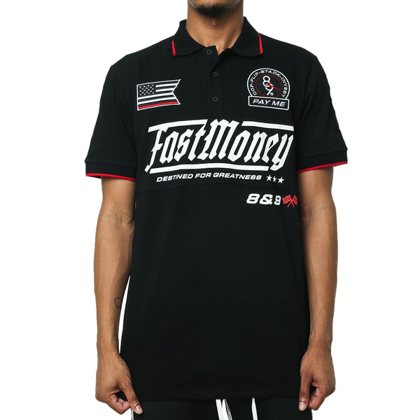 Fast Money Racing Polo Shirt Black
