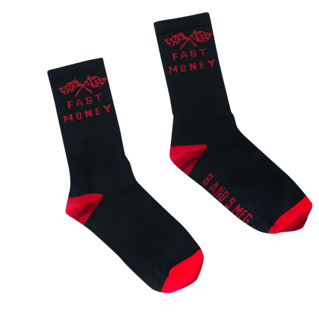 Fast Money Racing Socks Black