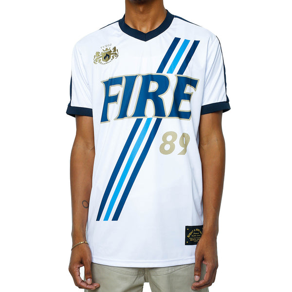 Fire Soccer Jersey White