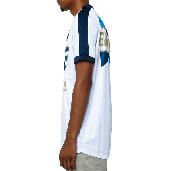 Fire Soccer Jersey White left
